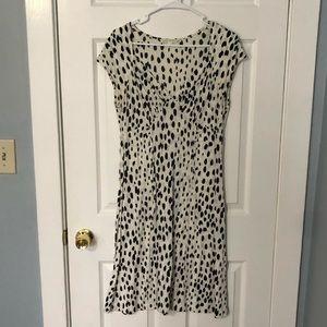 Banana Republic Size M Black White Dalmatian Dress